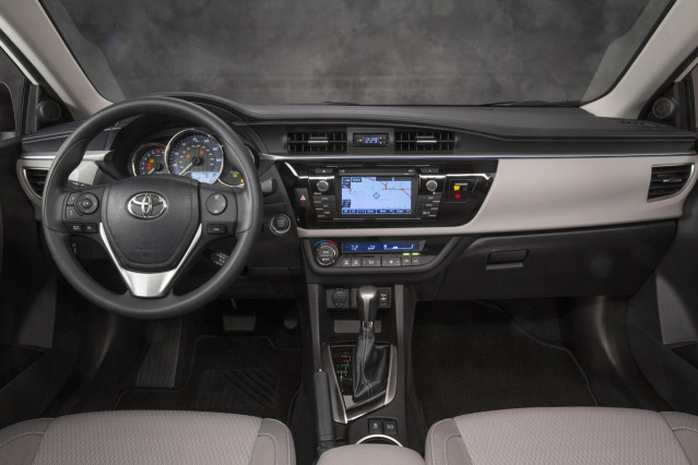 2014 Toyota Corolla vs 2014 Dodge Dart interior of Corolla