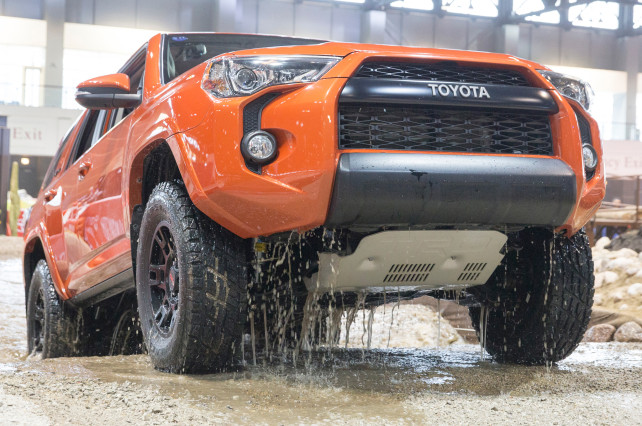 2015 Toyota 4Runner TRD Pro in the wather