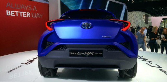2015 Toyota C-HR rear grill