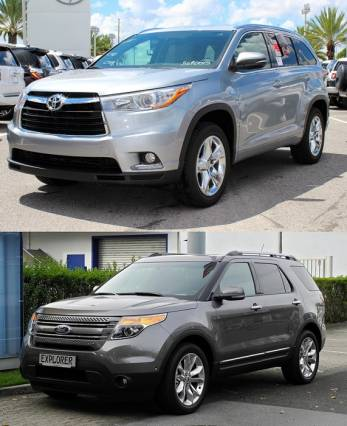 2015 Ford Explorer vs. 2015 Toyota Highlander